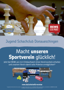 Scheine für Vereine - Jugend Schach Club Donaueschingen macht mit!